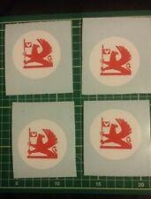 OPEL Astra Nova SR GTE Decal Sticker 4 X 60 mm Blanco Círculo Con Rojo Griffin