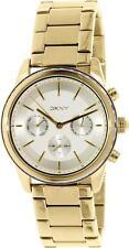 DKNY NY2330 Rockaway Women's Gold Tone Stainless Steel Chronograph Watch NWT