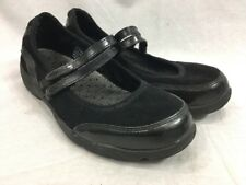 LL Bean Mary Jane Shoes 2 Straps Black Comfort Walking Suede Womens 8.5 EGUC