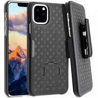 iPHONE 11 PRO MAX - CASE SWIVEL BELT CLIP ARMOR HOLSTER DROP-PROOF STAND COVER