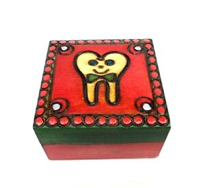 Tooth Box For Baby Teeth Tooth Fairy Boy's Keepsake Wood Box Baby Tooth Holder