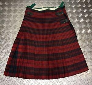 Genuine British Army Issued Regimental No11 Erskine Red Tartan Wool Kilt Faulty3