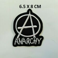 Anarchy Punk Rock Music Patch Iron Sew On Embroidered Jacket Jeans Leather #445