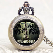 The Walking Dead TV Series Pendant Chain Quartz Pocket Watch Men Women Gift