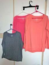 Lot 3 SO Shirts Tops Tees X-Large Grey Pink Orange Long Sleeves