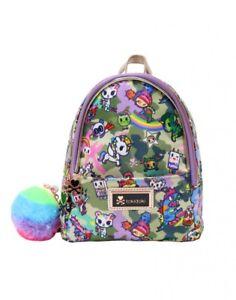 Tokidoki Camouflage Kawaii Collection Mini School Book Bag Backpack TK1803307