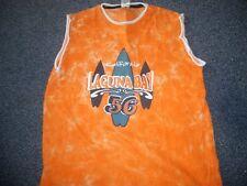 C&A - Tank Top  134/140  Orange m.Print u.Stick.  SUPERCOOL  TOPZUSTAND