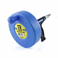 """TR Industrial Drum Auger for Plumbing with 1/4"""" x 25' Spring Cable"""
