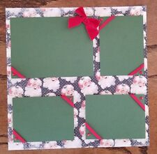 Santa Clause Pre Made Scrapbook Pages