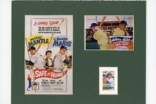 Yankee greats Roger Maris & Mickey Mantle in Safe at Home & Mickey Mantle stamp