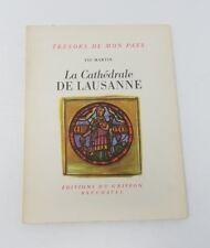 Años 50 la Cathedrale de Lausanne Folleto Libro Bolsillo Francés