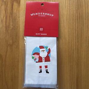 Wonder Shop At Target Gift Bags Ties Tags Christmas Santa 20ct New