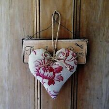 Laura Ashley Ironwork scroll vintage style heart door hanger shabby chic