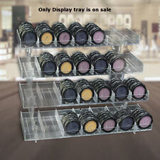 "Count of 2 Clear 4-Tier 28-compartment Modular Display Tray 12""W x 7.5""H x 8""D"
