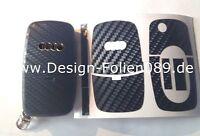 Carbon Schwarz Schlüssel z.B Audi TT 5B A4 S3 A3 A1 8e S4 8N 8P 8L A2 A6 6B RS