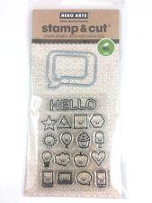 Hero Arts Everything Smiles Stamp & Cut Clear Stamps & Coordinating Die set