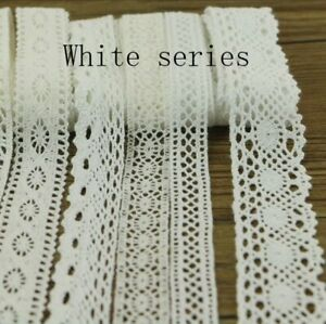 10 Yards 10 Series Of Garment Sewing Ornaments Ribbon Lace Crochet Cotton DIY