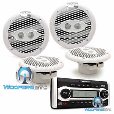 "pkg 2 sets ROCKFORD FOSGATE M162C 6.5"" MARINE SPEAKERS + RFX9700CD BOAT STEREO"