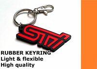 Keyring for Subaru STI - red grill badge emblem Impreza WRX STI rubber key fob