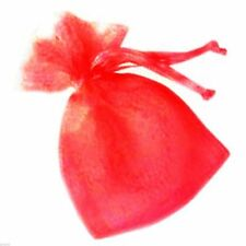 Small Red Organza Bags Pack of 10 XNB036