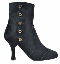 Patternless 100% Leather Slim Heel Formal Boots for Women