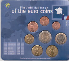 First official issue of the euro coins France / Frankreich / Frankrijk / Francia