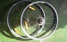 Rennrad  laufradsatz laufräder Rainbow DA 30  7 fach hinter und Vorderrad