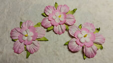 20 x 45mm PINK Mulberry Paper FLOWERS MPFF41 Paper Crafts Scrapbooks Cards
