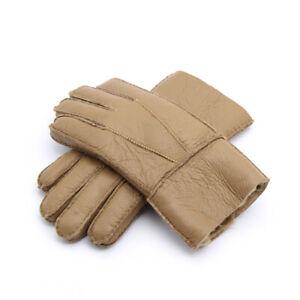 Men's Winter Genuine 8 colors Sheepskin Fashion Leather Shearling Fur Gloves Hot