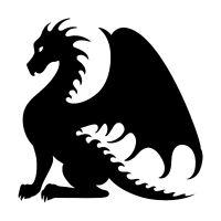 DRAGON Vinyl Decal Sticker - V3- Wyvern Fantasy Folklore Medieval Dungeons Fire