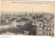 75 - cartolina - PARIGI - Panorama dei sette ponti pris de St Gervais