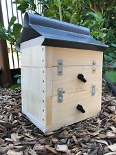 Stingless Native Bee Hive Side Entry | Bare Timber | Honey Pot Design With Roof