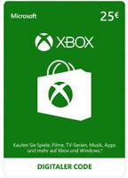 Xbox Live 25 Euro Card Microsoft - MS 25 € Guthaben Karte Xbox 360 Code Key [EU]