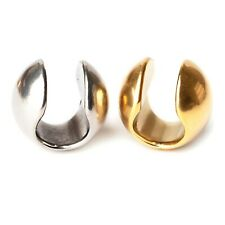 Small Round Sphere Circular, Gold & Silver Ear Weights Hangers 14mm+