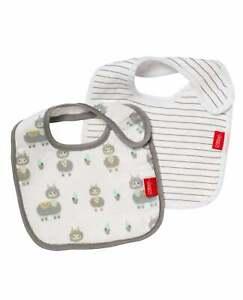 2x Nuby Newborn Baby Bib Milk Feeding 100% Natural Soft Absorbant / 2 Pack Deal