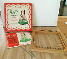 Antique Nelly Bee Metal & Wood Weaving Loom in Box w/ Instructions