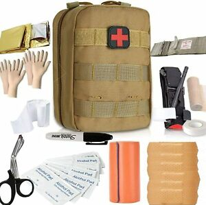 Emergency Trauma Tactical First Aid Kit Survival Medical Portable Car Boat Home