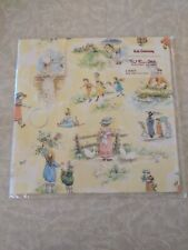 Vintage Children Playing Wrapping Paper Kate Greenaway Red Farm Studio Sealed