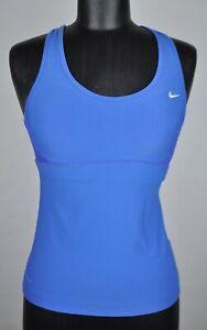 Nike Dri-Fit Blue Women's Small Blue Racer Back Sports Bra Tank Top Pilates Yoga
