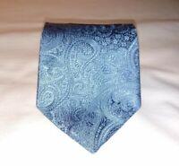 Paul Smith Mens Necktie Tie Blue Red Floral Pattern Designer 100% Silk