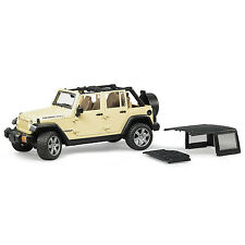 Bruder Toys Scale 1:16 Jeep Wrangler Unlimited Rubicon with Detachable Roof, Red
