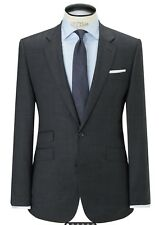 NEW JOHN LEWIS PURE WOOL PRINCE OF WALES TAILORED FIT SUIT JACKET 40 L CHARCOAL
