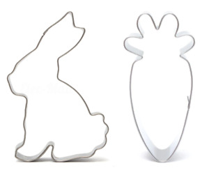 Bunny Rabbit & Carrot Shape Cookie Cutter Easter Cake Biscuit Pastry Mould