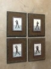 """Set Of  (4) 10"""" x 12"""" golfer picture set - Hanging Pictures"""