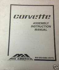 Corvette 1971 Assembly Instruction Manual Reprint by Corvette America w/ Binder