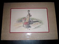 """Apples by the Pump"" Matted Print Roger Chapin 1985 19.5x14"""