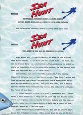 KIMBER SISSONS RON ELY SEA HUNT RARE ORIGINAL 1984 TV PRESS MATERIAL