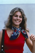 Lindsay Wagner original TV 35mm film slide in red vest The Bionic Woman 1974