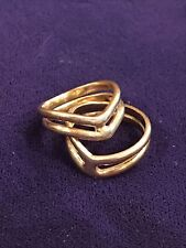 """PR Vintage 14k Solid Gold Nested Stacking Rings Womens Jewelry Bands 3/4"""" Across"""