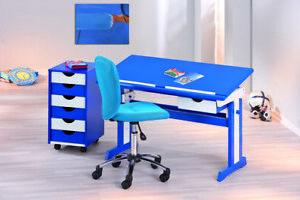 Pezzi / Drehstuhl Bürostuhl Kinderstuhl Bezug Mesh Blau Chrom, Auf Rollen